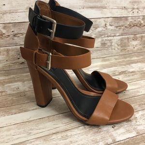 Zara Collection Double Ankle Strap Block Heels